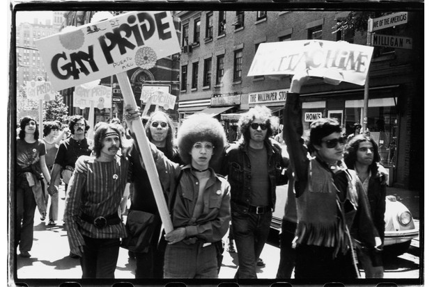 One year after Stonewall, the uprising was marked with a new demonstration – Christopher Street Liberation Day. (Photo by Fred W. McDarrah/Getty Images)