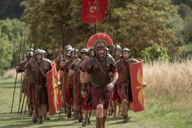 Actor and comedian Lee Mack in 'Horrible Histories: The Movie – Rotten Romans'. (Image by Nick Wall)