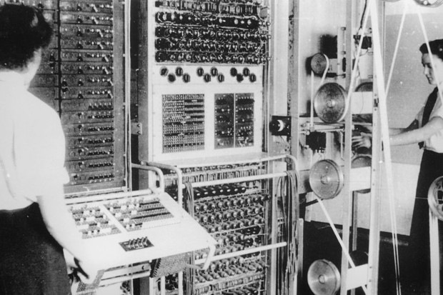 Wrens worked as code-breakers at Bletchley Park.