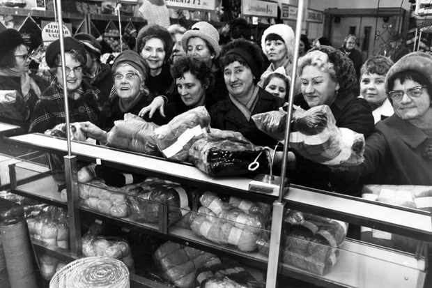 Shoppers in Liverpool during the 1960s