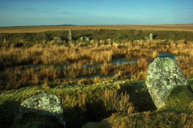 Stones on Bodmin moor known as King Arthur's Hall