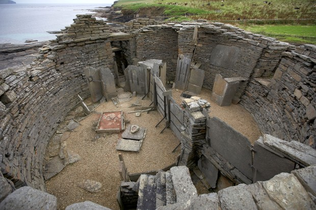 Midhowe Broch iron age fort