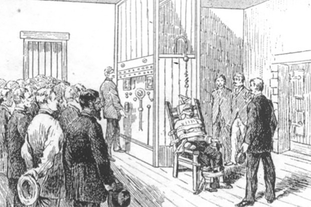 Illustration of electric chair