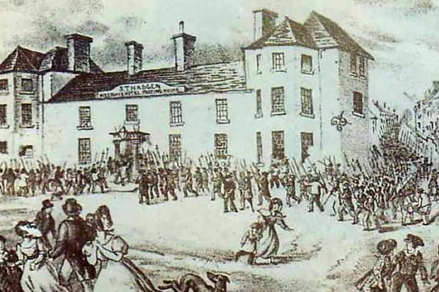 Illustration of Chartist riot