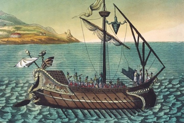 A Roman galley warship