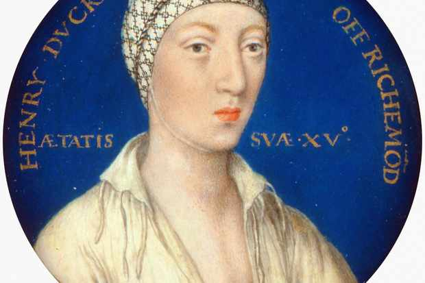"Beloved son: Henry Fitzroy shown in a c1534 miniature. Henry VIII called his illegitimate son his ""worldly jewel"" and showered him with titles, much to Catherine of Aragon's displeasure. (Photo by Alamy)"