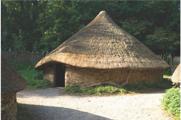 A typical Celtic circular house