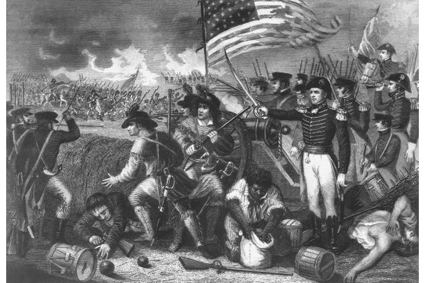 An illustration depicting a scene during the battle of New Orleans, 1815. (Photo by Interim Archives/Getty Images)