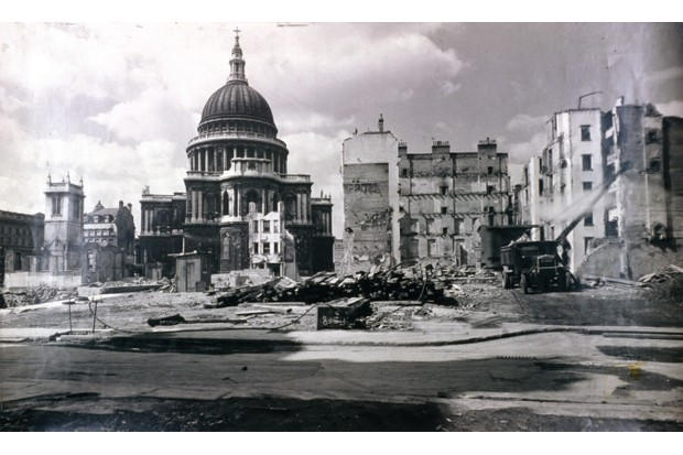 Faith's home was by St Paul's, which also survived the Blitz (Photo by Guildhall Library & Art Gallery/Heritage Images/Getty Images))