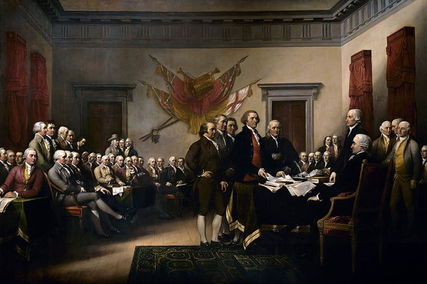 The 1776 American Declaration of Independence. (Image by Universal History Archive / Getty Images)