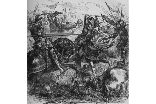 An illustration of Richard III at the battle of Bosworth, a clash which historian Sean Lang argues is overrated. (Photo by Print Collector/Getty Images)