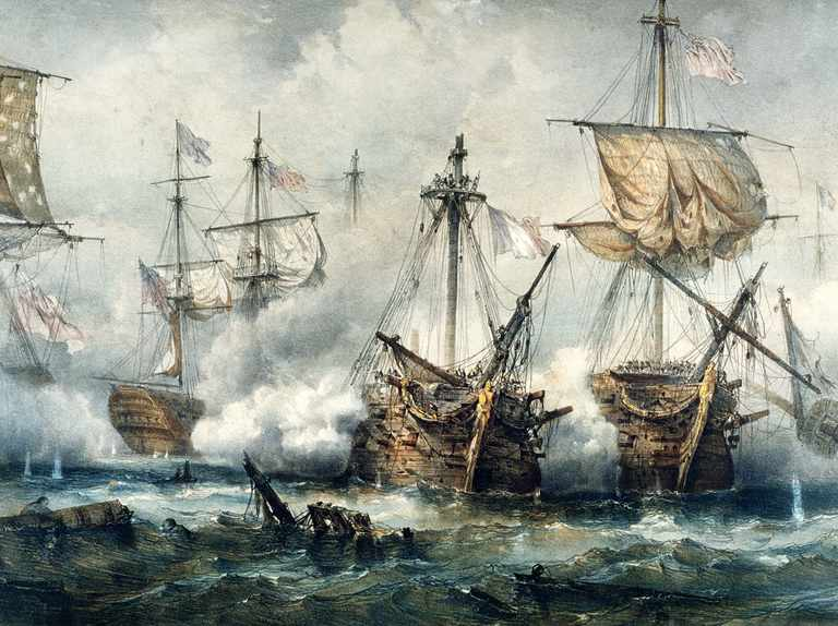 """Britain didn't """"rule the waves"""" after the battle of Trafalgar, says historian Sam Willis"""