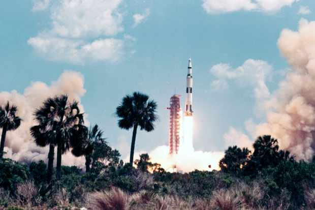 Launch of the Apollo 16 mission, 1972. ((Photo by SSPL/Getty Images)
