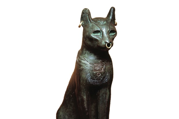 A bronze-and-gold Bastet, daughter of the Egyptian sun god Ra and defender of the pharaoh (Photo by CM Dixon/Heritage Images/Getty Images)