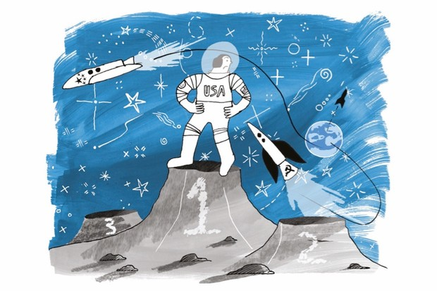 What's the legacy of the 1969 moon landing? (Illustration by Kate Hazell for BBC World Histories Magazine)