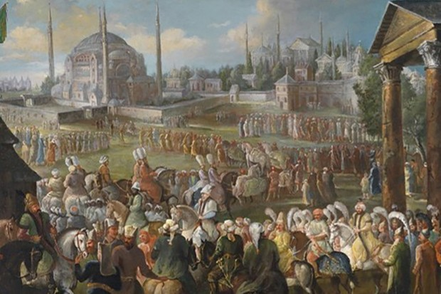 An Ottoman Sultan rides through Istanbul. At its height, the empire ruled over some 15 million subjects