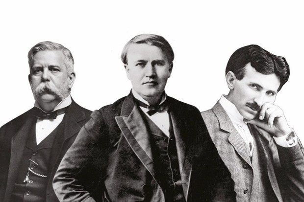 George Westinghouse, Thomas Edison and Nikola Tesla