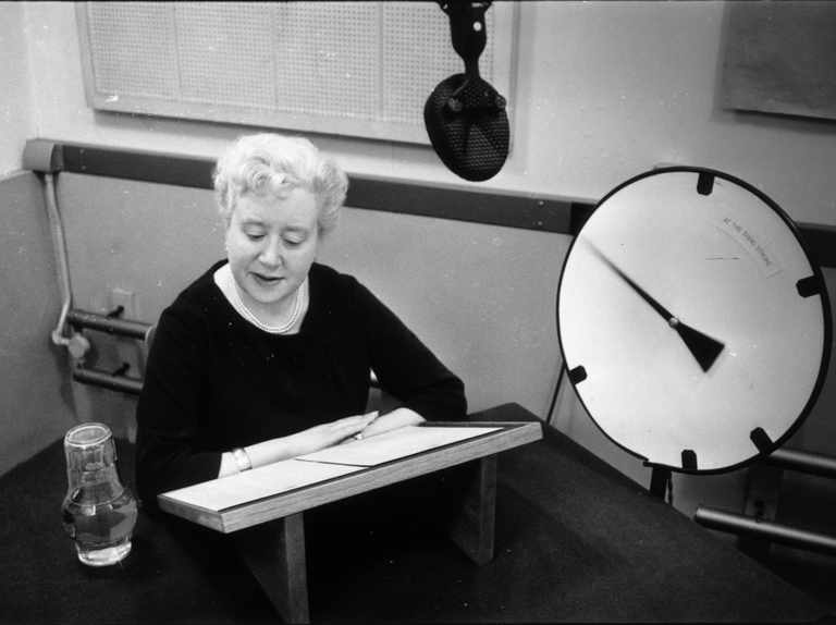 Who voiced the original speaking clock?