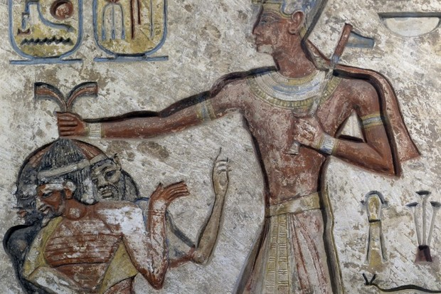 Ramesses II holding prisoners