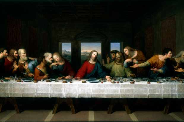 'The Last Supper', 1803. A copy of the famous painting by Leonardo da Vinci in the 1490s. Some think the superstition about Friday 13th being unlucky is related to the Last Supper, when 13 people were present at the meal before Jesus's crucifixion on Good Friday. (Photo by Ann Ronan Pictures/Print Collector/Getty Images)