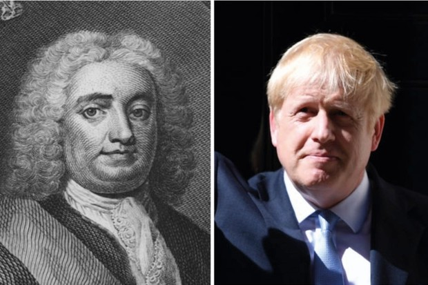 Prime ministers Robert Walpole and Boris Johnson