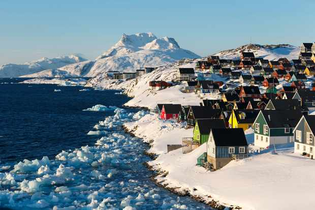 Colourful wooden houses in Old Nuuk, Greenland
