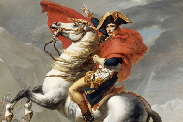 Bonaparte Crossing the Grand Saint-Bernard Pass (Photo by Fine Art Images/Heritage Images/Getty Images)