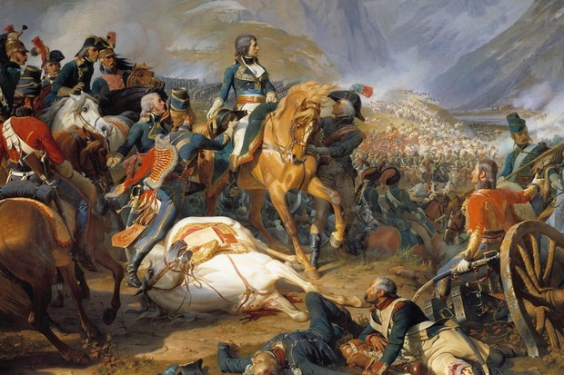 Napoleon Bonaparte at the Battle of Rivoli