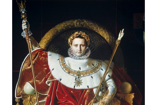Napoleon Bonaparte on the imperial throne at his coronation
