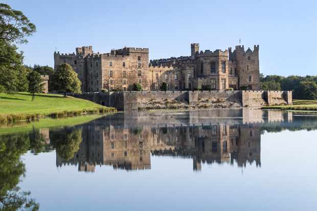Raby Castle Lake Reflections, Staindrop, County Durham, UK