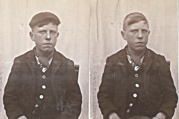 A real Peaky Blinder mug-shot