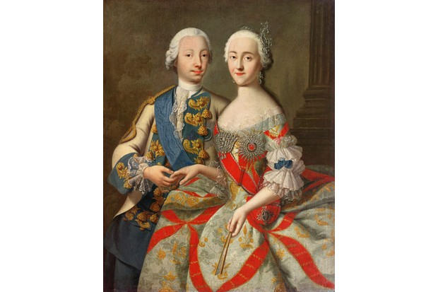 """Catherine and her """"immature and boorish"""" husband, the future Emperor Peter III, in a portrait from 1740–45. (Image by Bridgeman)"""