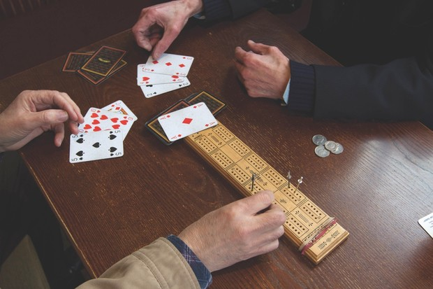The card game cribbage