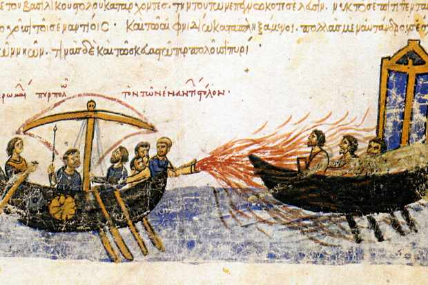 The Byzantines and a flamethrower