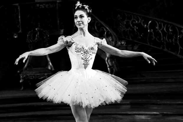 Ballerina Margot Fonteyn in a tutu