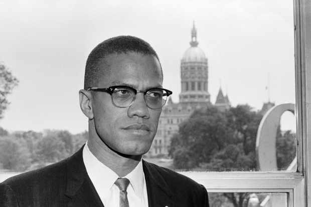 Black rights activist Malcolm X