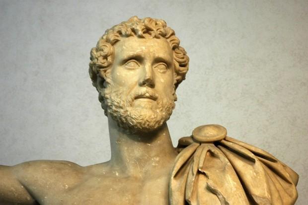 Bust of the Roman emperor Antoninus