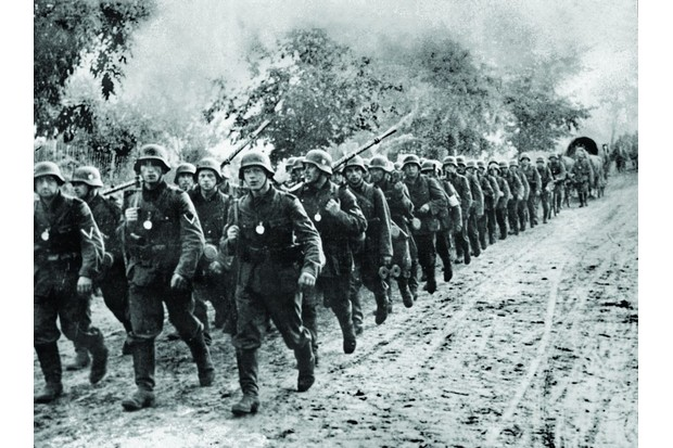 German soldiers march into Poland