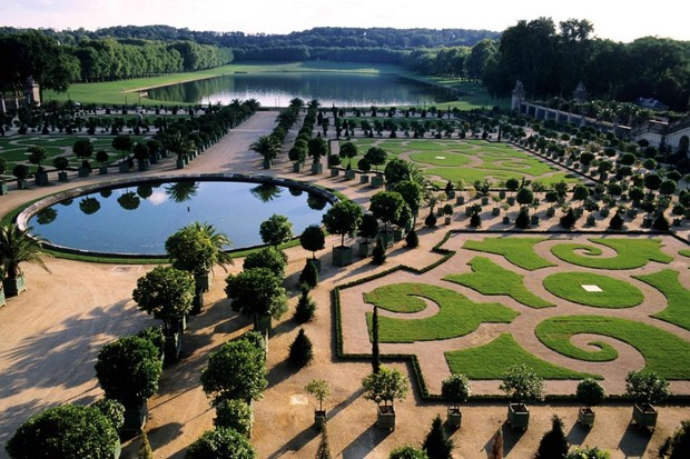 Photo of the gardens of Versailles