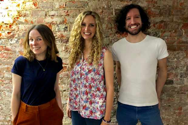 Cariad Lloyd, Suzannah Lipscomb and Greg Jenner