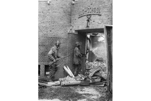 Search for snipers at Arnhem