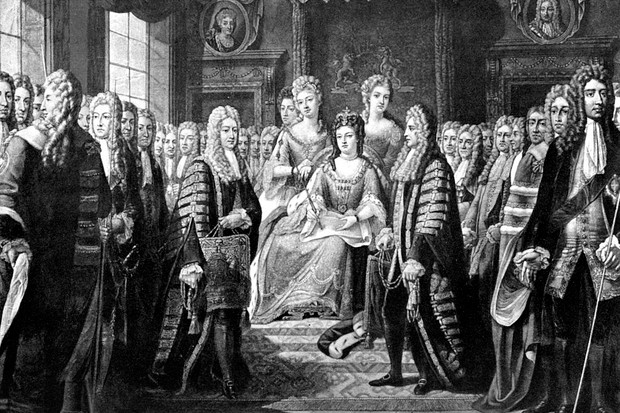 The Acts of Union was signed in 1706 and 1707, creating the Kingdom of Great Britain. (Photo by The Print Collector/Print Collector/Getty Images)
