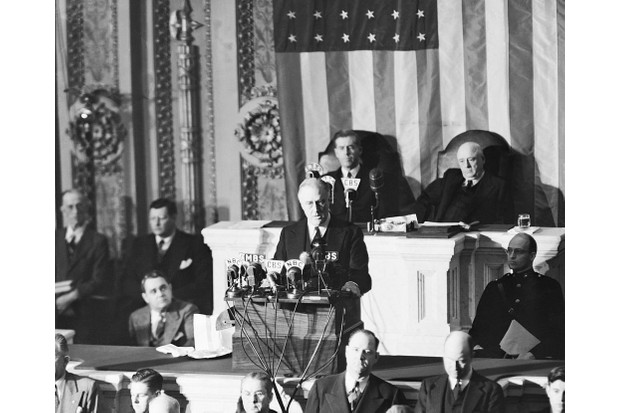 President Franklin D Roosevelt during the joint session of Congress