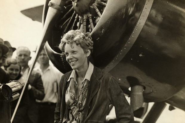 Amelia Earhart, who became the first woman to fly non-stop across the Atlantic in 1932. (Image by Bettmann/Getty Images)