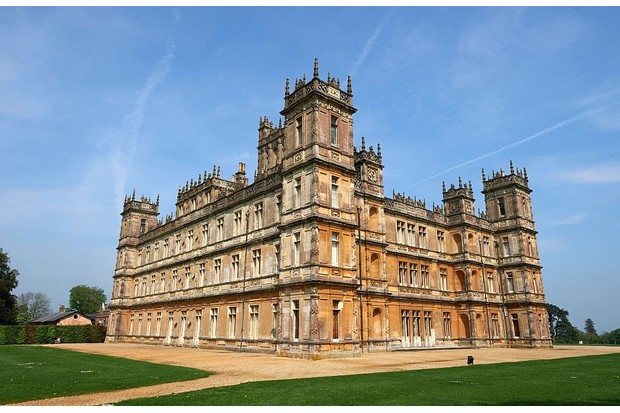 Highclere Castle, the setting of the hit television series (and now film) 'Downton Abbey'.