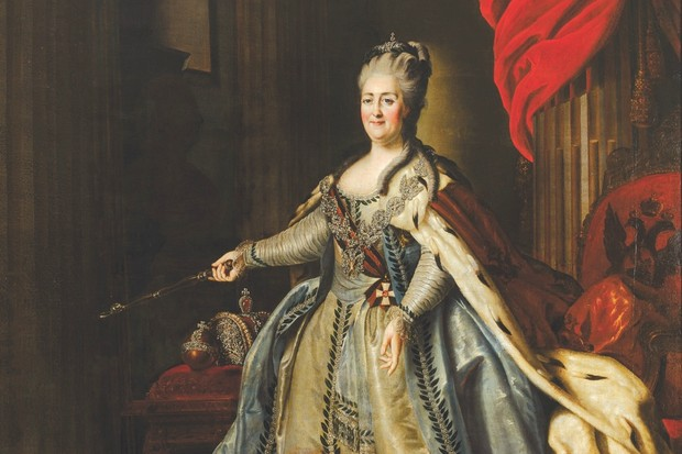 A portrait of Russian empress Catherine the Great