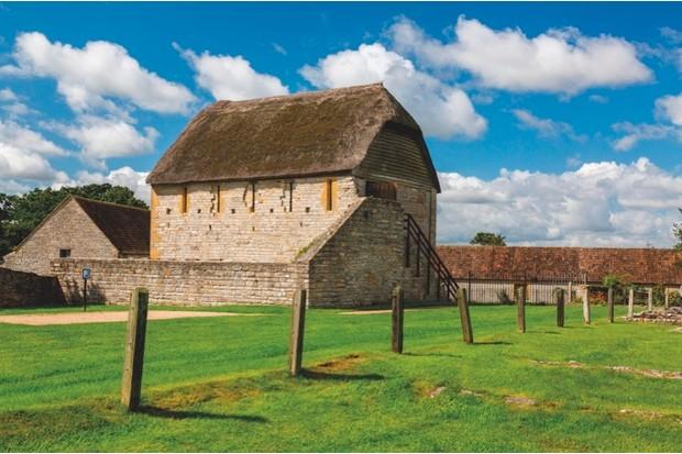 Medieval toilet at Muchelney Abbey