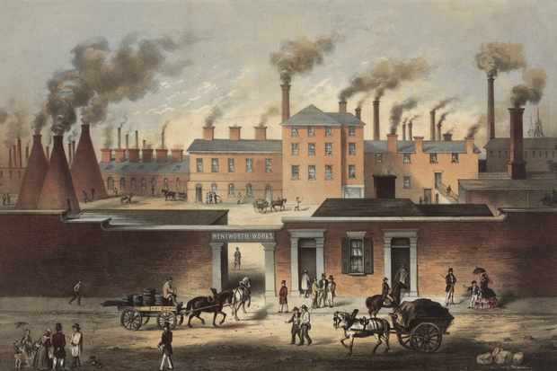 A c1860 depiction of Wentworth Works steel manufacturer in Sheffield