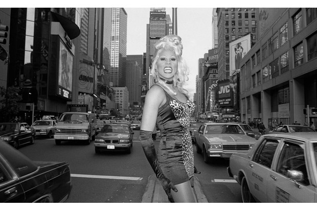 November c1992: Drag queen RuPaul poses for a portrait in Times Square, New York. (Photo by Catherine McGann/Getty Images).