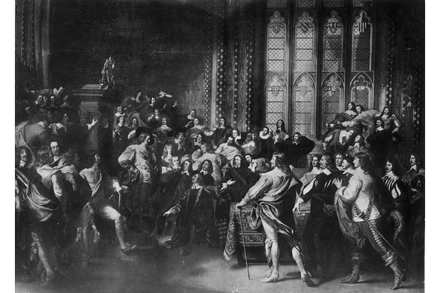 Charles I's entry into the House of Commons in 1642
